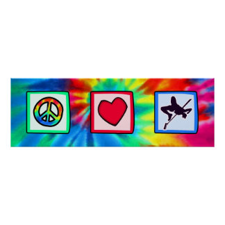 Paz, amor, salto de altura poster
