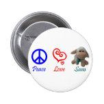 Paz, amor, Sam las ovejas Pin