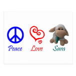 Paz, amor, Sam las ovejas Postal