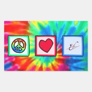 Paz amor saxofones etiquetas