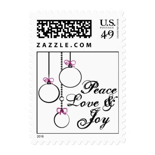 Paz, amor, sellos de la alegría