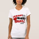 Paz, amor, SIDA de la curación Camisetas