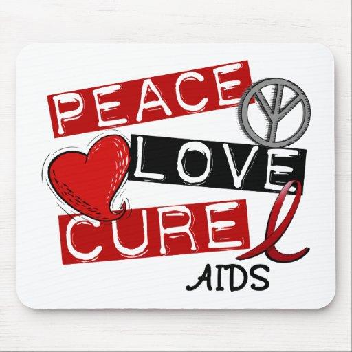Paz, amor, SIDA de la curación Mousepad