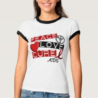 Paz, amor, SIDA de la curación Playera