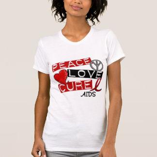 Paz, amor, SIDA de la curación Poleras