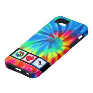 Paz, amor, snowboard iPhone 5 carcasas