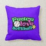 Paz, amor, softball almohada