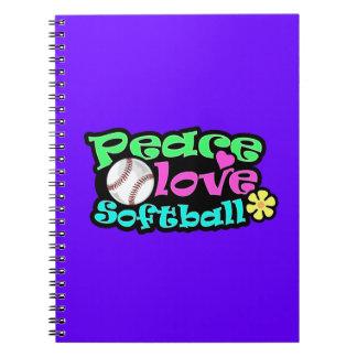 Paz amor softball libros de apuntes