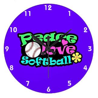 Paz amor softball reloj