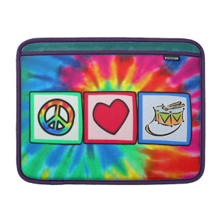 Paz amor tambor funda para macbook air