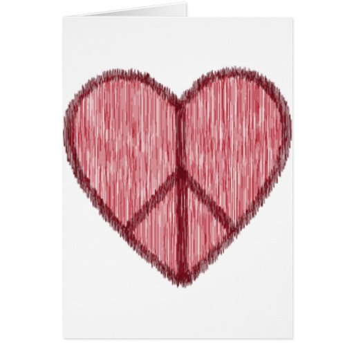 Paz, amor, tarjetas del día de San Valentín