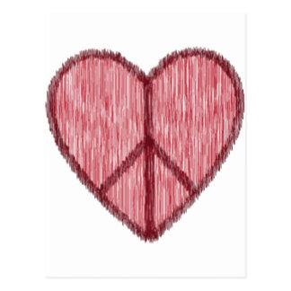 Paz amor tarjetas del día de San Valentín Tarjeta Postal