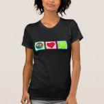 Paz, amor, tenis camisetas