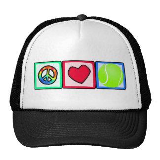 Paz, amor, tenis gorras de camionero