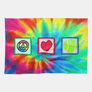 Paz amor tenis toallas