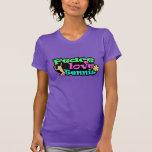 Paz, amor, tenis; Retro Camiseta