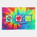 Paz, amor, tenis toallas