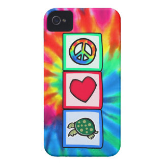 Paz, amor, tortugas carcasa para iPhone 4 de Case-Mate