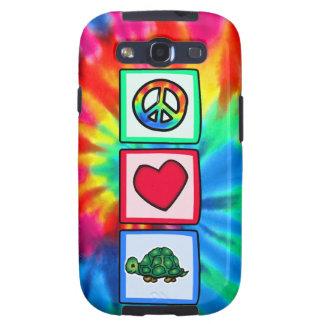 Paz, amor, tortugas galaxy s3 fundas