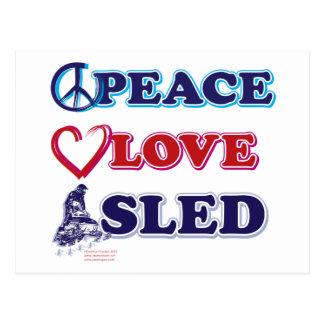 Paz-Amor-Trineo-en-Oscuro Postales
