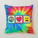 Paz, amor, tristeza almohadas