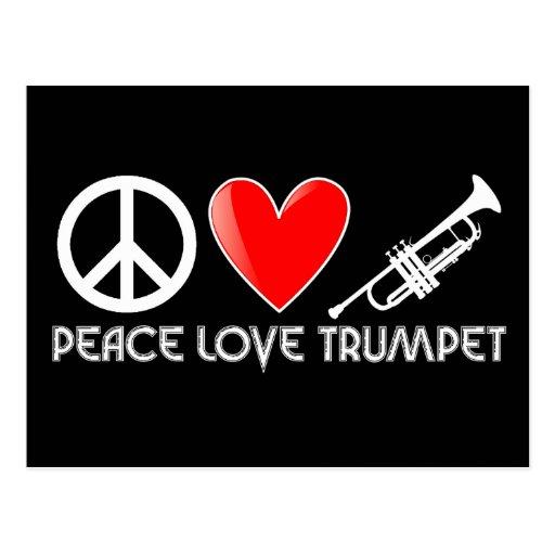 Paz, amor, trompeta postal