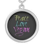 Paz, amor, vegano grimpola personalizada