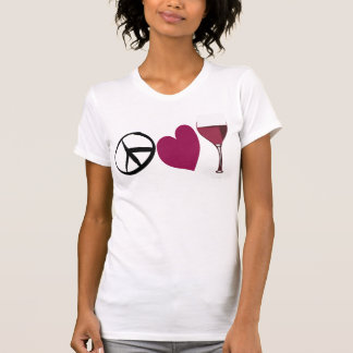 Paz-Amor-Vino Camisetas