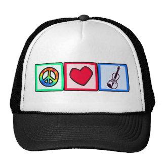 Paz, amor, violines gorra