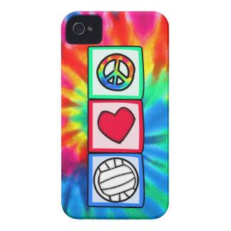 Paz, amor, voleibol funda para iPhone 4 de Case-Mate