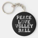 Paz, amor, voleibol llavero