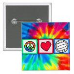 Paz, amor, voleibol pins