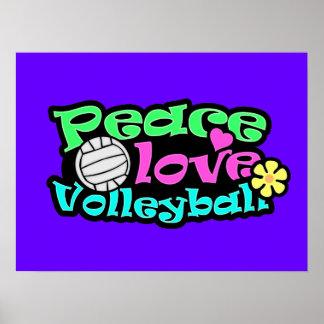 Paz, amor, voleibol; Retro Póster