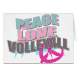 Paz, amor, voleibol tarjeta