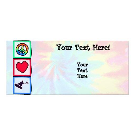 Paz, amor, Wakeboarding Lona Personalizada