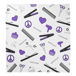 Paz, amor, y accesorios del pelo (púrpuras) bandanas