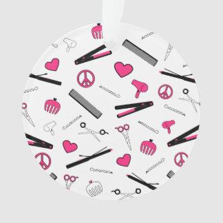 Paz, amor, y accesorios del pelo (rosa)