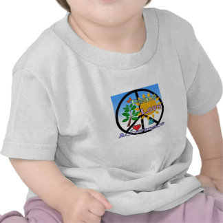 Paz, amor, y aceptación/signo de la paz camisetas