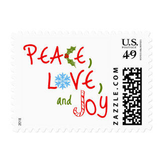 Paz, amor, y alegría estampilla