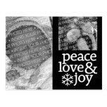 Paz, amor y alegría - foto del día de fiesta postales
