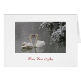 Paz, amor y alegría tarjeta de felicitación
