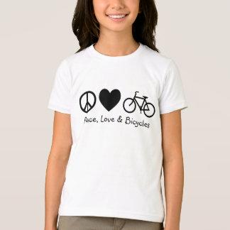Paz, amor y bicicletas playera