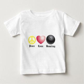 Paz, amor, y bolos tshirts