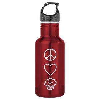 Paz, amor y botella de la libertad de las