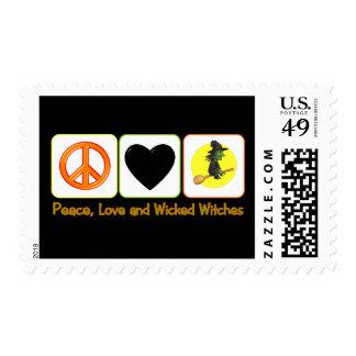Paz, amor y brujas traviesas sellos