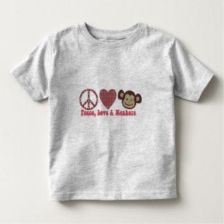 Paz, amor y camisetas y regalos retros de los