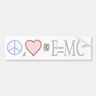 Paz amor y comprensión pegatina de parachoque