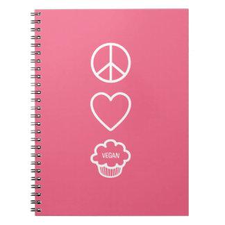 Paz, amor y cuaderno de las magdalenas del vegano