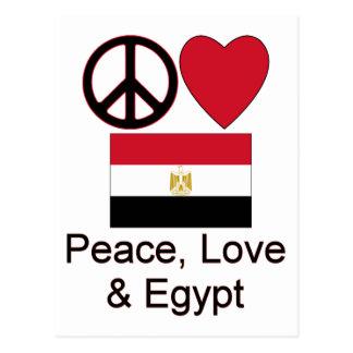 Paz amor y Egipto Tarjeta Postal