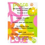 Paz, amor y fiesta anuncio personalizado